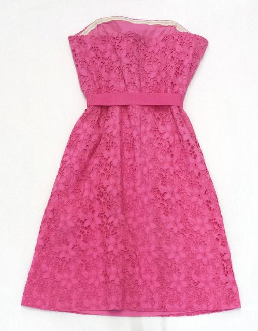 Lilly Pulitzer short dress Floral Eyelet Cotton Strapless on Tradesy