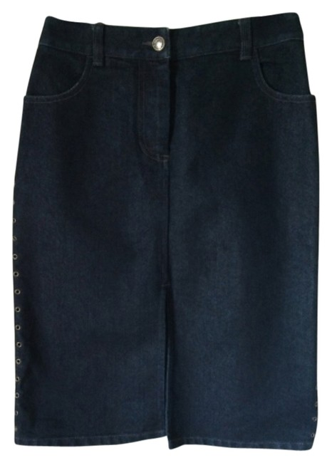 Preload https://item1.tradesy.com/images/ax-armani-exchange-dark-blue-knee-length-skirt-size-2-xs-26-5152345-0-0.jpg?width=400&height=650