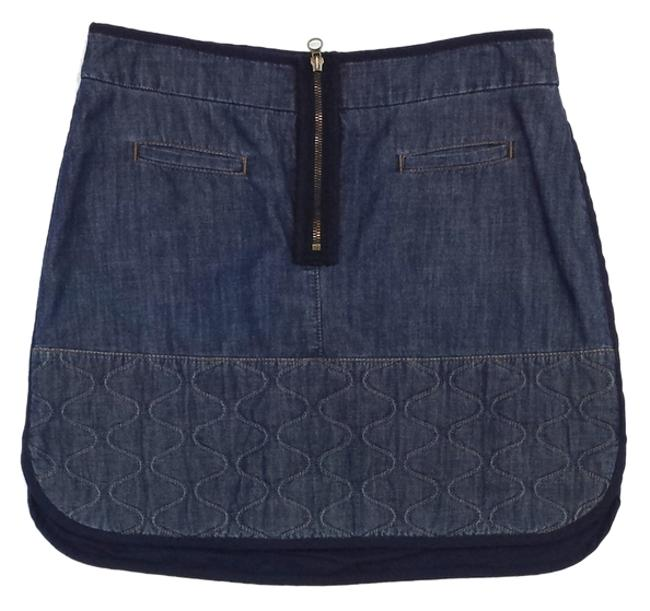 See by Chloé Denim Cotton Quilted Skirt