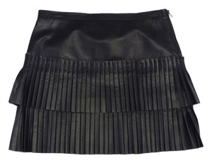 BCBGMAXAZRIA Leather Pleated Skirt