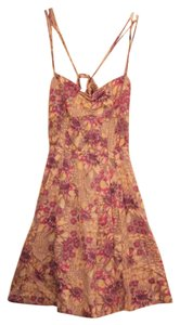 Free People short dress Purple Flowy Floral on Tradesy
