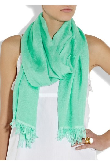 Crumpet Cashmere and silk-blend scarf (New without tags)
