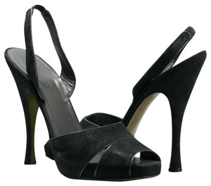 Donna Karan Hidden Designer Black Platforms