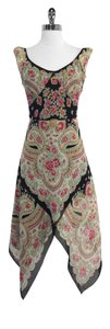 Anna Sui short dress Floral Print Silk Blend Sleeveless on Tradesy