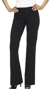 Express Editor Lowrise Tab Waist Topstitching Stretchy Crepe Rayon Lycra Office Career Work-wear Night Out Date Night Tailored Boot Cut Pants Black