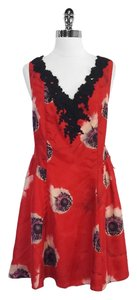 Leifdottir short dress Floral Print Silk Sleeveless on Tradesy