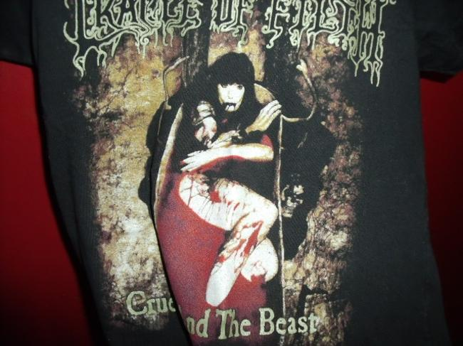 Stomp Rockwear Fitted Brazillian Cradle Of Filth T Shirt Black