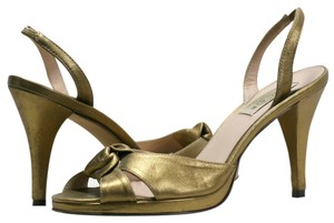 Oscar de la Renta Metallic Gold Formal