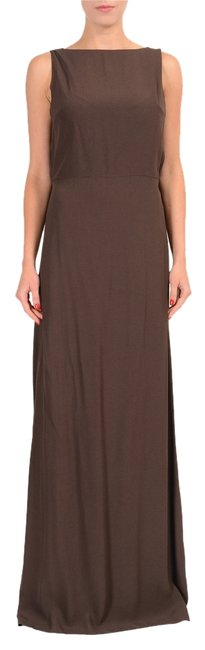Brown Maxi Dress by Maison Margiela