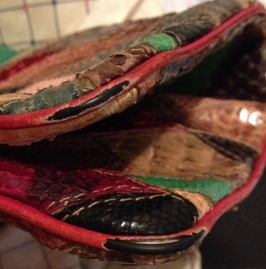 Other Snakeskin Leather Python Tote in multi color