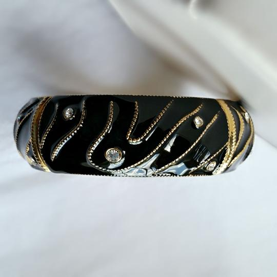 Other Black Lacquer and Gold Bracelet