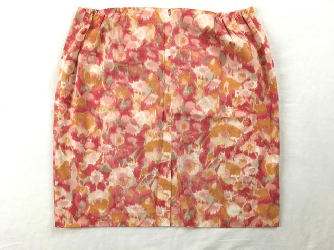 Talbots Straight Floral Skirt Multi-color