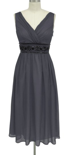 Gray Chiffon Goddess Beaded Waist Size:3x/4x Formal Bridesmaid/Mob Dress Size 28 (Plus 3x)