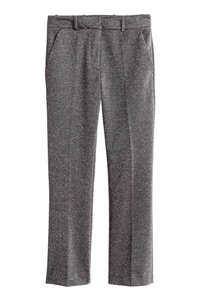 H&M Glittery Flare Pants Silver