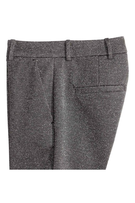 H&M Glittery Crop Flare Pants Silver
