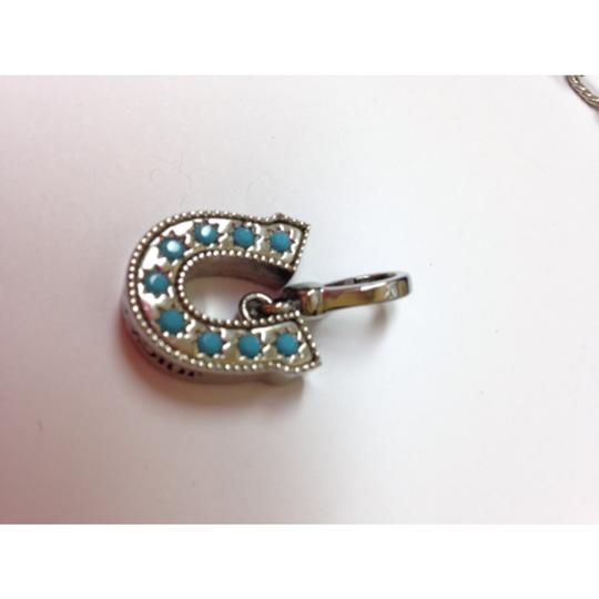 Juicy Couture Horseshoe charm with turquoise detail