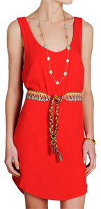 Jack by BB Dakota short dress Red Summer Belted Orange Date Night Short Open on Tradesy