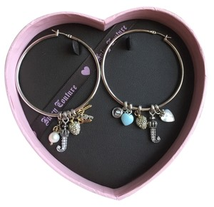 Juicy Couture Juicy Couture Signature Hoop Earrings w/ Charms