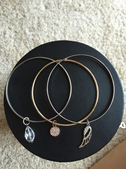 Guess Set of 6 Gold & Silver Bracelets with Charms