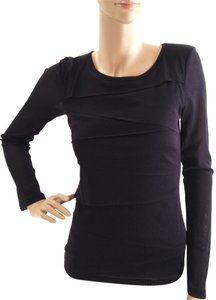 Karen Kane Layered Longsleeve Top Black
