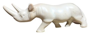 Other Carved White Rhinoceros; Kenyan Soapstone [ SisterSoul Closet ]