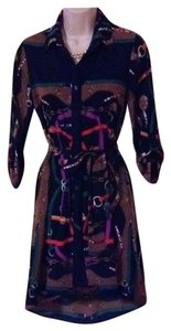 Varizoni Tiffany Hi Low Scarf Print Chain Link Dress