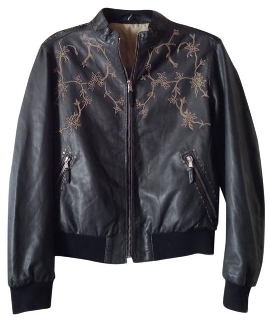 Preload https://item5.tradesy.com/images/dark-grey-black-lambskin-embroidered-moto-bomber-with-sequins-leather-jacket-size-8-m-515819-0-1.jpg?width=400&height=650