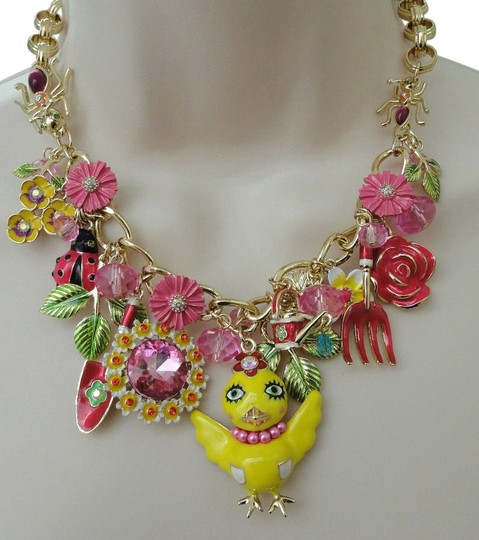 Preload https://item5.tradesy.com/images/betsey-johnson-multi-color-garden-party-chickadee-statement-necklace-5158384-0-1.jpg?width=440&height=440
