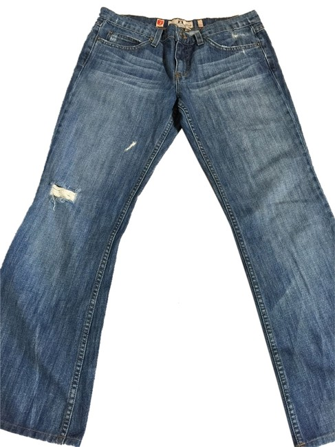 Item - Denim Distressed Fitted Low Rise-wide Leg Ripped Boot Cut Jeans Size 29 (6, M)