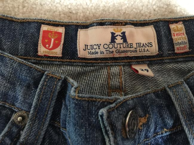 Juicy Couture Holes Ripped Ripped Wide Leg Low Rise Fitted Sexy Stylish Boot Cut Jeans-Distressed