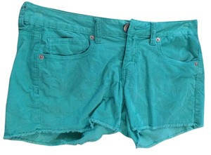 American Eagle Outfitters Corduroy Mini/Short Shorts Teal