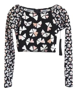 Marc by Marc Jacobs Long Sleeved Cropped Scuba Top