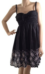 Morgan & Co Ruched Floral Little Dress