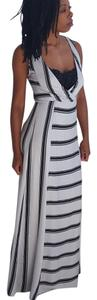 black and bone Maxi Dress by Ella Moss Designer Maxi Striped Striped Maxi