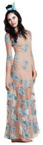 Blue Orchid , Nude Maxi Dress by For Love & Lemons Maxi Swimcoverup Coverup Boho