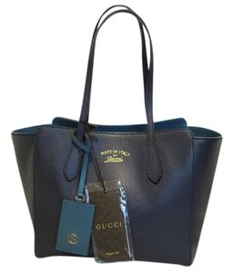 Gucci Swing Small Tote in NAVY BLUE TEAL