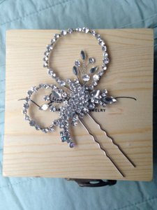 Silver Floral Pin Hair Accessory