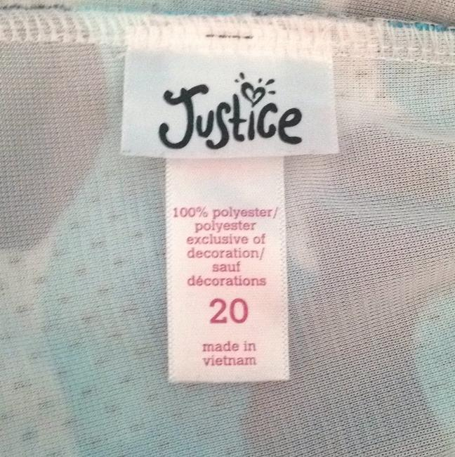 Justice White, And Blue Camouflage Shorts