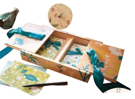 Blessings Unlimted Wooden Stationery Box