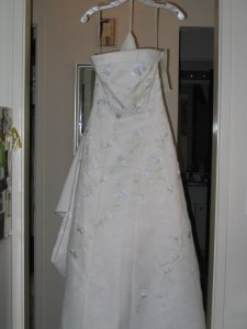 David's Bridal Ivory Ct3052 Wedding Dress Size 8 (M)