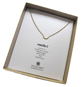 Dogeared Dogeared 14K Gold Plated Sterling Silver Smile U Necklace