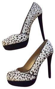 Chinese Laundry Leopard Pump Black and White Pumps