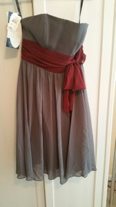 Alfred Angelo Charcoal With Burgundy Two Dresses For The Price Of One! Dress