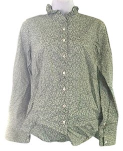J.Crew Liberty Of London Print Button Down Shirt Green