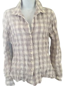 James Perse Plaid Shirt Button Down Shirt Grey