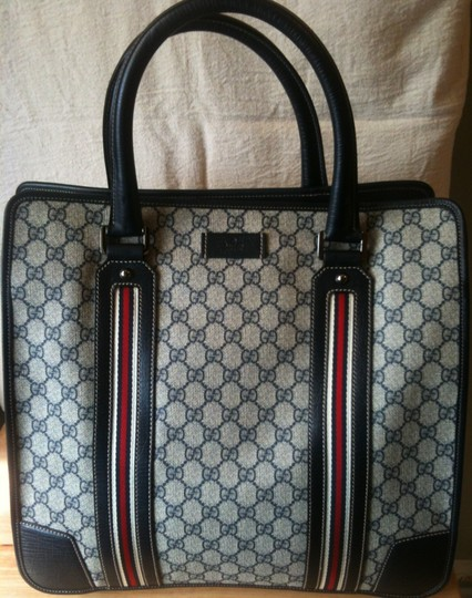 Gucci Beige/Red/Navy Travel Bag