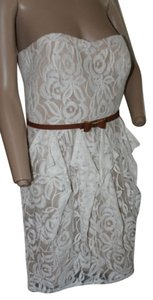 Jessica Simpson Lace Strapless Sweetheart Dress