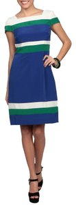 Chetta B. by Sherrie Bloom and Peter Noviello New Satin Color-blocking Dress
