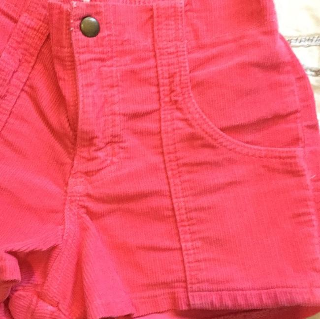 American Apparel High Waisted Corduroy 70s 80s Mini/Short Shorts Pink