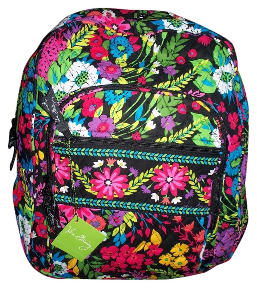 Vera Bradley Campus Bookbag School College Baby Stylish Travel Overnight  Christmas Gift Lunch Hiking Floral 2014 ... 2de375d6b0d7e